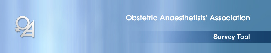 Obstetric Anaesthetists' Association Survey Tool